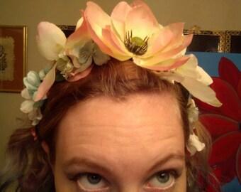 Pastel Vintage Flower Crown