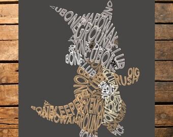 "Pokemon Marowak Typography Digital File 18x24"""