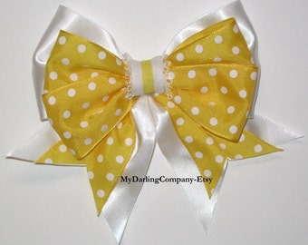 Yellow Wedding Yellow Flower Girl Bow Yellow Headband Yellow Hair Bow Yellow Toddler Dress Belle Costume Yellow Prom Quinceanera Easter Bow