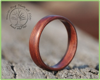 Jarrah wooden ring. Simple engagement ring, wedding ring, ring for any other special occasion. Ring gift, natural ring. Womens and mens ring