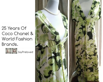 Sale ! FREE SHIP-Beautiful Summer Dress in Lime Green handmade by Thai Designer. No ironing needed !  Superb Feminine -Fits most