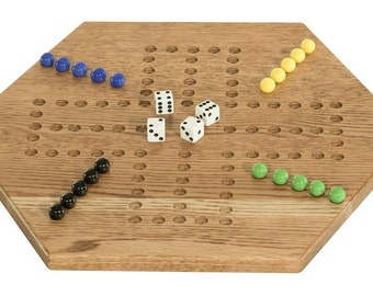 Oak Wood Aggravation Board Game