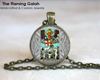 JUDGEMENT TAROT Pendant • Wicca • Divination • Major Arcana • Occult • Fortune Teller • Gift Under 20 • Made in Australia (P0858)