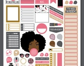 Oh Marilyn Vol I | Weekly PRINTABLE Planner Stickers | Pdf & Jpg Format | ECLP Vertical Planner Stickers