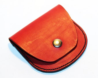 Leather wallet, red wallet, great leather item, red men's wallet, red women's wallet, gift for men, gift for women.