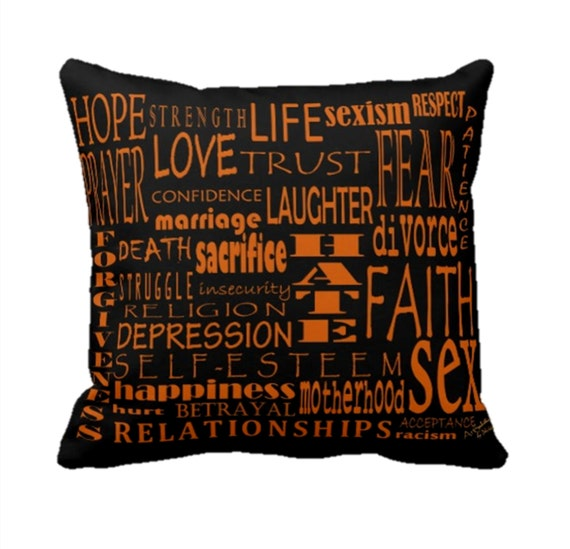 Decorative Love Pillow : PILLOW DECORATIVE THROW Pillows Love by ArtSoulisticCreation