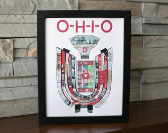 Ohio State Buckeye Stadium OSU Horseshoe