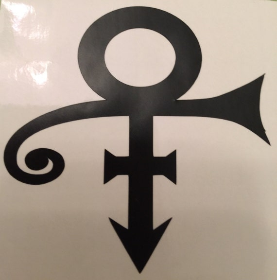 prince decal wine glass decal name decal prince symbol