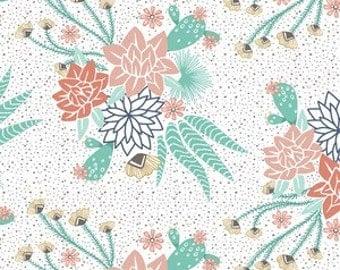 Crib Sheet - Mojave Bloom In White