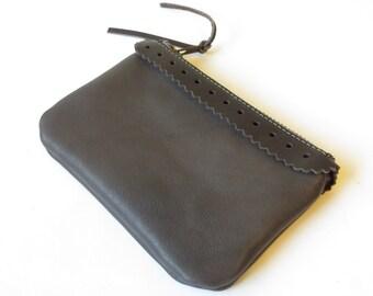 Leather Purse, Leather Clutch,