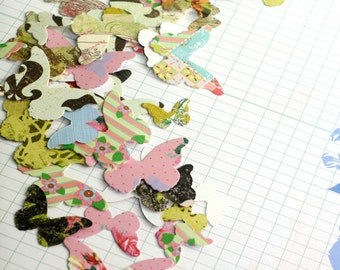 Butterfly die cuts, 50 pieces of beautiful butterfly confetti for scrapbooking, journaling or project life,