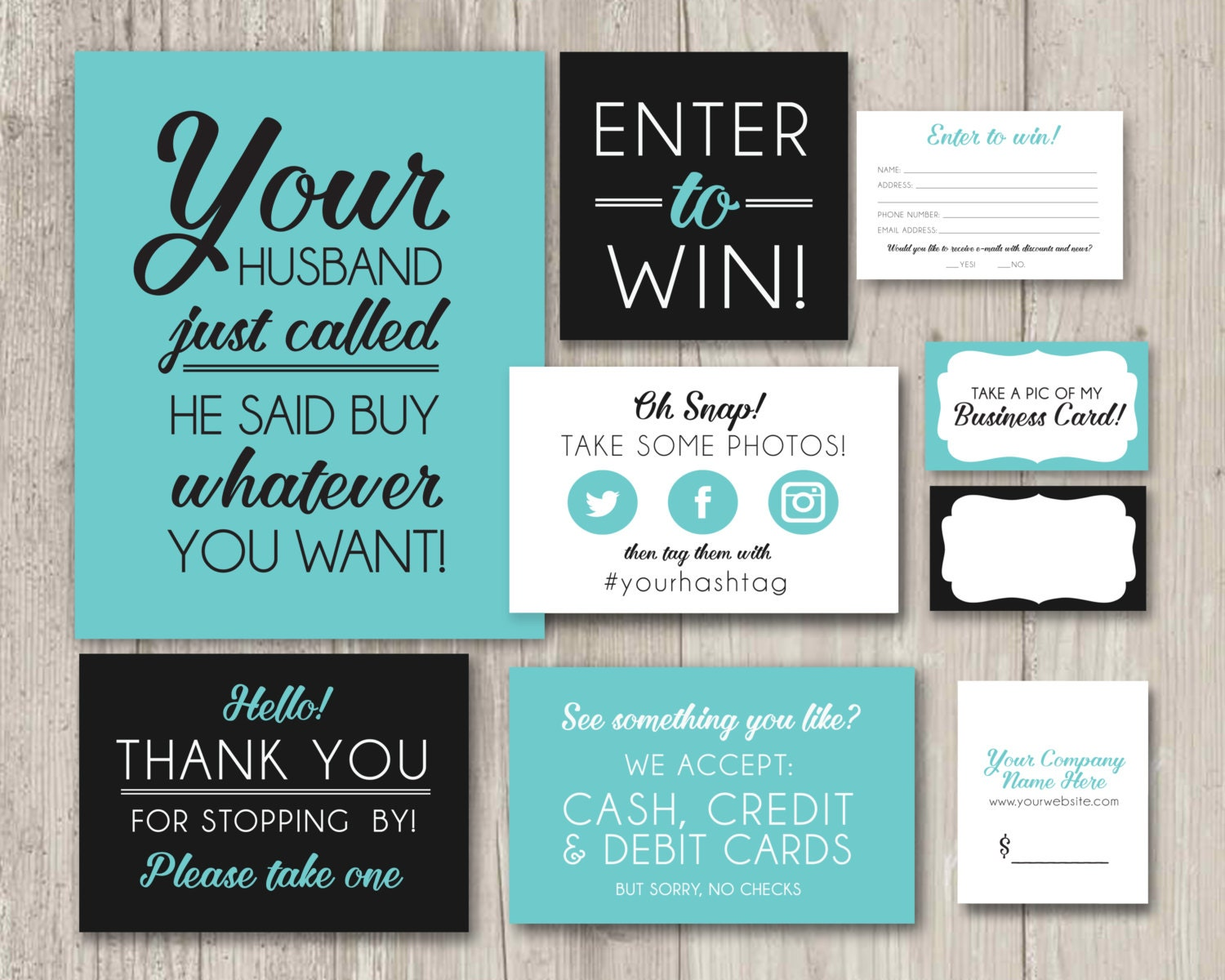prize vendor table kit craft table kit table signs vendor fair table decor printable signs enter to win oh snap thank you signs printable
