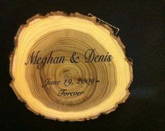 Personalized Wooden Log for Wedding Decoration