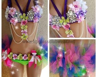 Carribean Princess Rave Outfit - Rave Wear- Theme Wear- Dance - Costume - Custom - Festival Clothing - EDM Wear - EDC