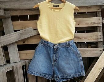 Vintage High-Waisted Denim Shorts (US Size 15)