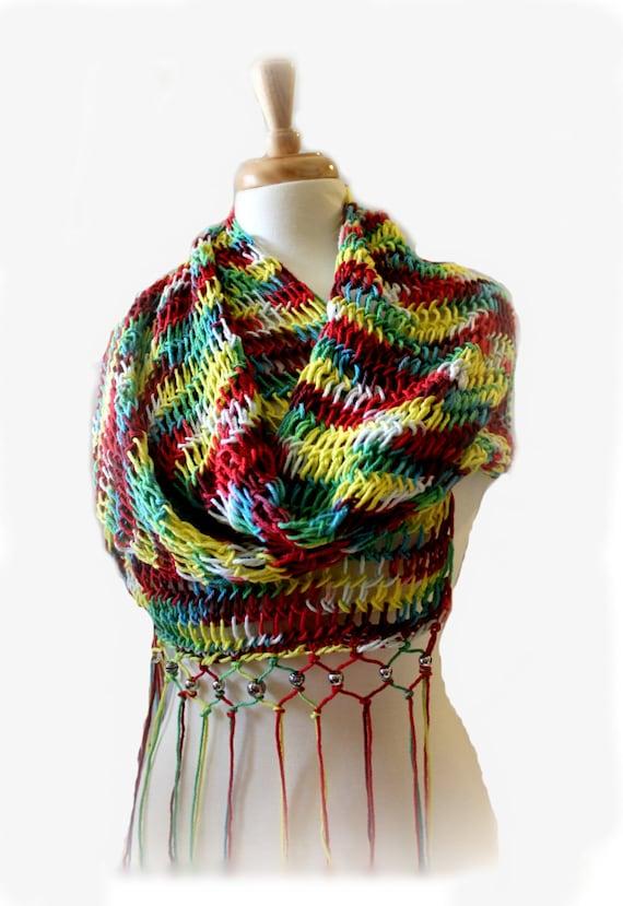 Hand Made Knit Rectangular Shawl