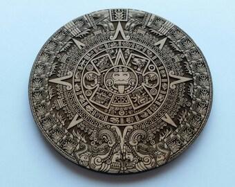 Laser Cut Aztec Calendar Home Accent Embellishment ( Home Decoration, Coasters)