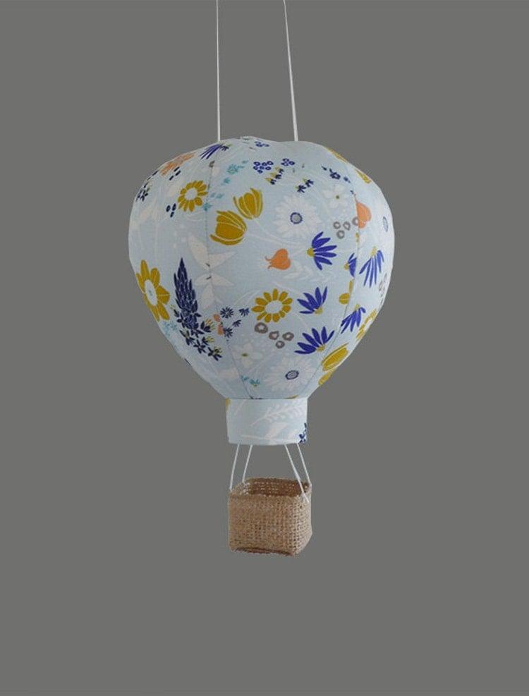 Single hot air balloon decoration nursery decor by for Air balloon decoration