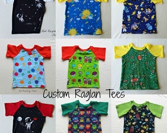 Kids Raglan Shirt, Made to Order