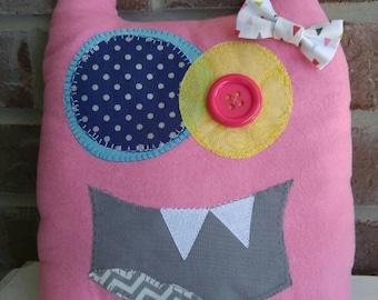 Critter Monster Pillows, Stuffed Monster Toys-pink