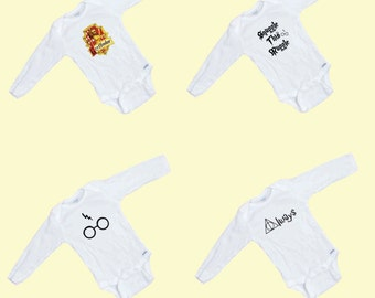 Harry Potter Long sleeve 4 Pack Onesies
