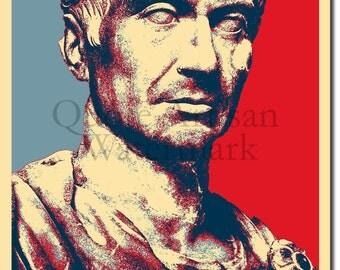 Julius Caesar Original Art Print - Photo Poster Gift