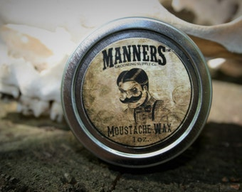 MOUSTACHE WAX (choose any scent - 1oz. tin)