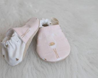 Baby Girl Shoes, Flamingo Baby Shoes, Flamingo Booties, Flamingo Baby Girl, Baby Shoes, Pink baby Shoes, Pink Booties