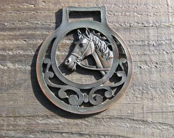 Horse Brass, COPPER Horse Decoration, Martingale Decoration, Vintage Horse Brass