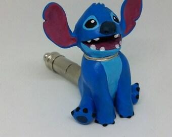 Stitch Pipe Cute Alien Movie Smoking Pipe Handmade Sculpture