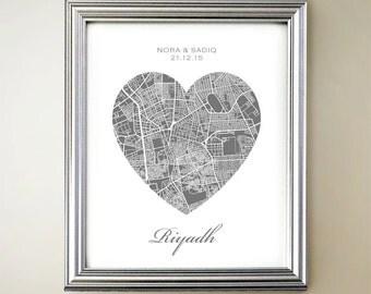 Riyadh Heart Map