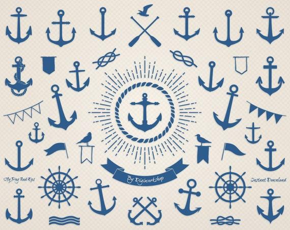 Ancre de bateau clip art ancre marine clipart nautique - Dessiner une ancre marine ...