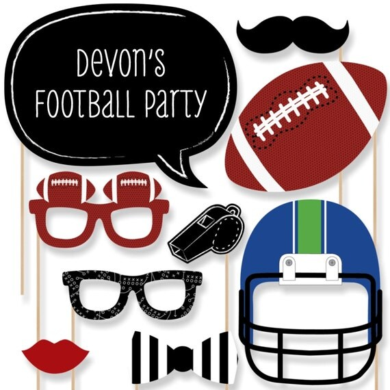 Football Photo Booth Props Football Photobooth Kit With