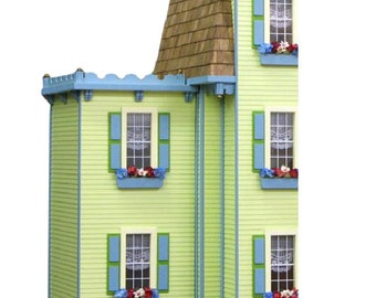 Two Story Jr. Addition Unfinished Dollhouse Addition Kit