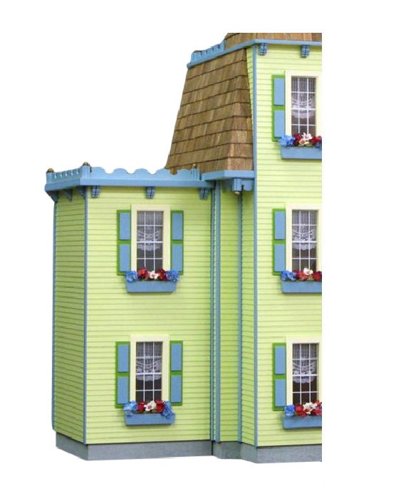 Two Story Addition: Two Story Jr. Addition Unfinished Dollhouse Addition Kit