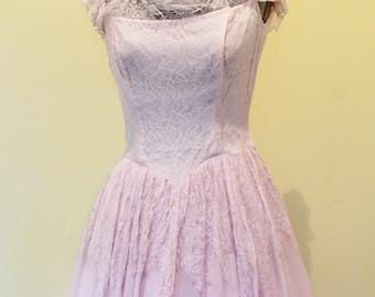 Ceil Chapman Pink Prom Dress