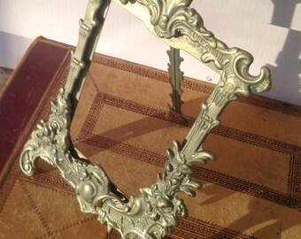 Vintage Cast Brass Photo Frame
