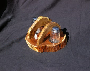 Mesquite Napkin holder with Salt and Pepper Shakers