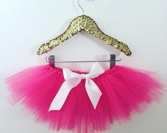 Hot Pink Tulle Tutu Skirt    Hot Pink    Tutu    Tulle Tutu    Newborn- Big kid
