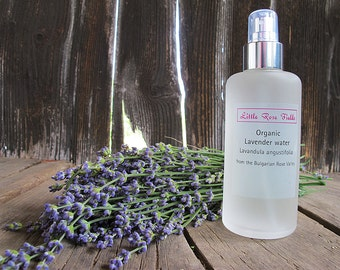 Organic Lavender Water (Lavandula angustifolia) - from the Bulgarian Rose Valley