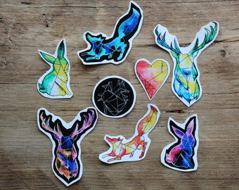 Watercolour Woodland Stickers