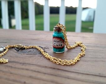 Newt's Cure Necklace, hand made, hand drawn, The Maze Runner, Thomas, Minho, Newt, gift, book, movie, james dashner, scorch trials, jewelry