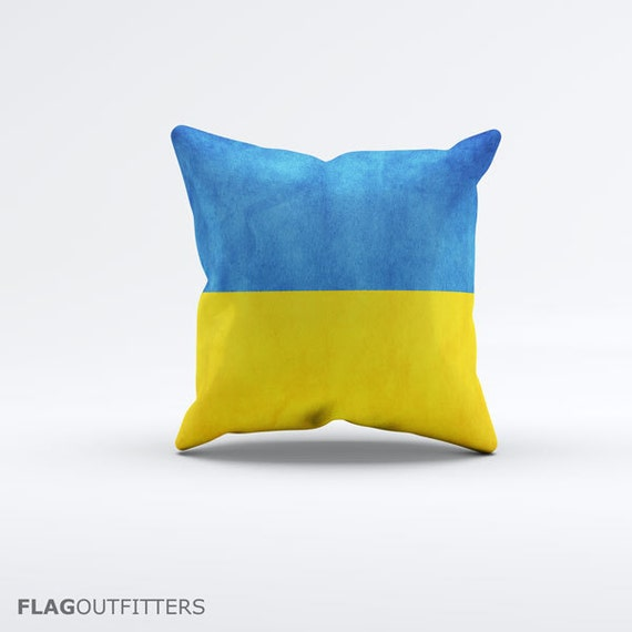 15 Inch Throw Pillow Covers : Flag of Ukraine Throw Pillow Cover 15 x 15 inch