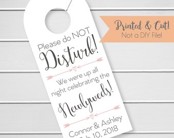 Wedding Door Hanger, Custom Hotel Door Hangers, Destination Wedding Welcome Bag  (DH6)
