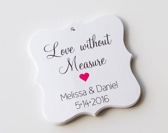 Love Without Measure Favor Tags, Love Without Measure Wedding Favor Tags, Wedding Hang Tags  (FS-085)