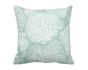 green throw pillow cover sea foam pillows sage green pillows nautical pillows beach decor coral pillows
