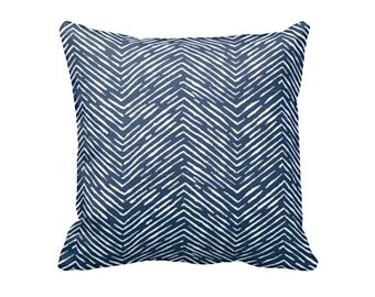 7 Size Available: Decorative Pillow Cover Navy Throw Pillow Herringbone Pillow Navy Decor