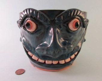 Southern Folk Art Face Pot