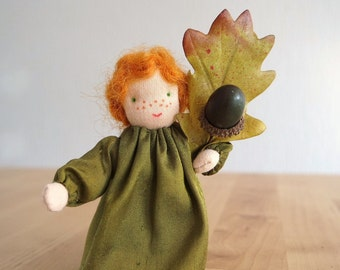 Acorn - Flowerchild for the Nature Table of Autumn, Waldorf inspired