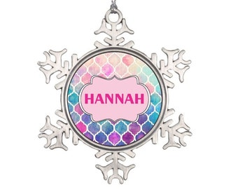 Custom Name Christmas Ornament - Personalized Christmas Ornament - Snowflake Christmas Ornament Gift for Him Gift for Her, Monogram Gift